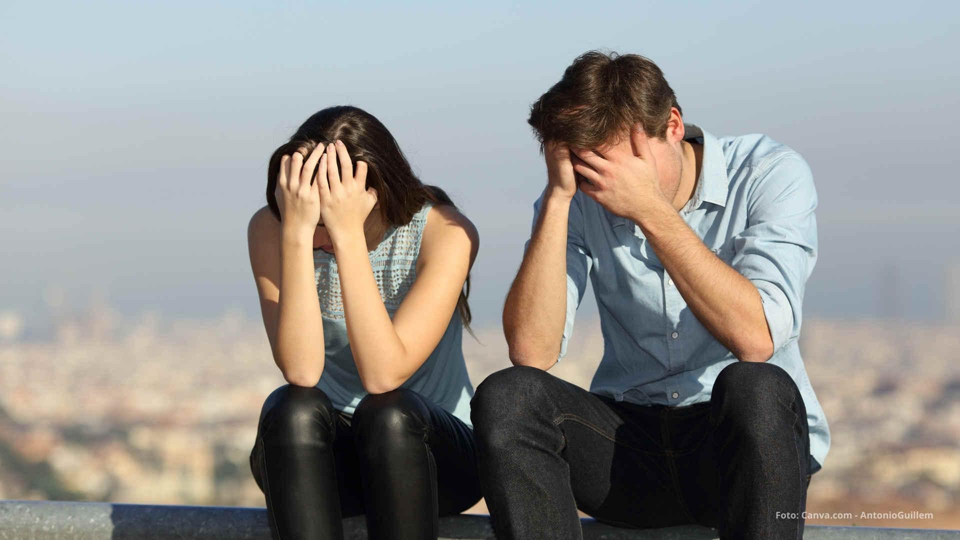Paar erlebt schwere Beziehung