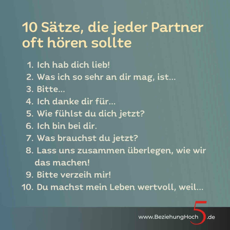 10 Sätze die jeder Partner hören sollte